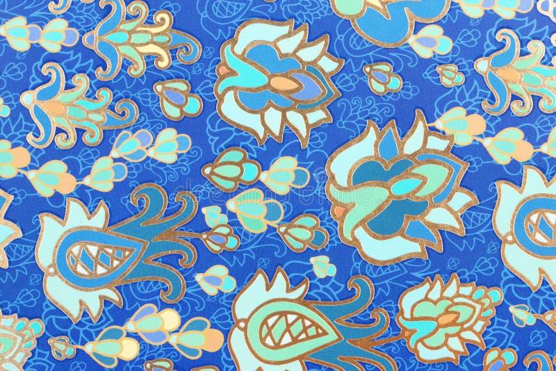 在纸的纹理色的装饰品 免版税库存照片