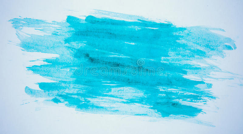 在纸的蓝色油漆 免版税库存照片