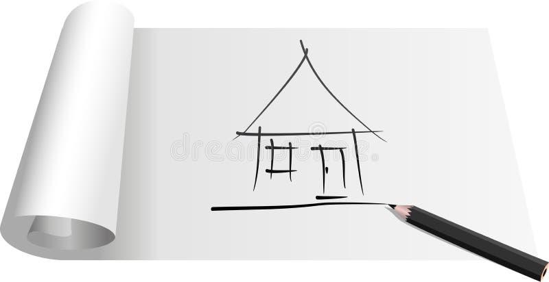 在纸的议院图画 皇族释放例证