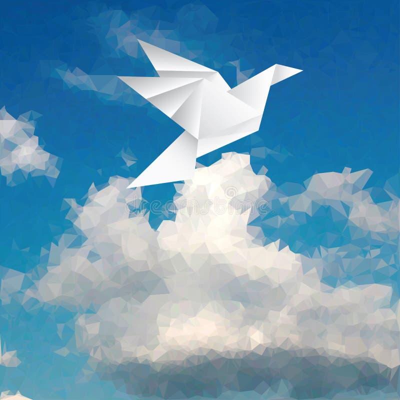 在纸的鸟 向量例证