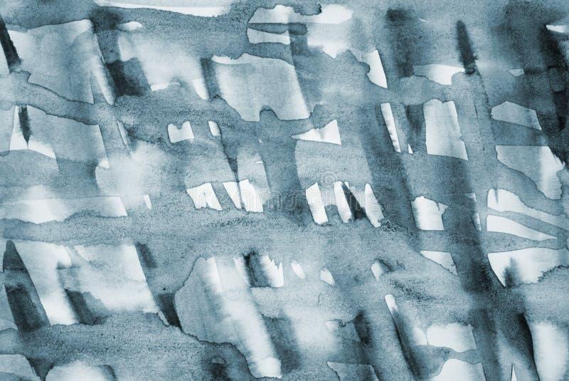 在纸纹理的抽象灰色水彩作为背景 库存照片