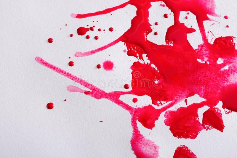 在纸纹理的抽象水彩油漆飞溅 库存照片