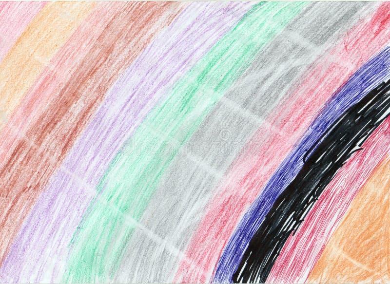 在纸背景的彩虹艺术品 免版税库存图片