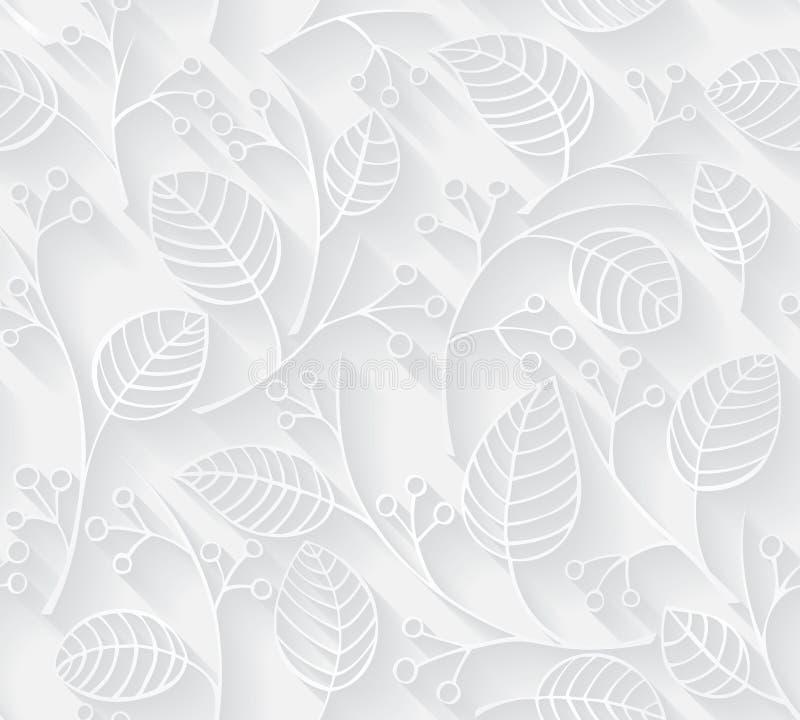 在纸被削减的样式的传染媒介无缝的样式背景纺织品、纸或者表面纹理的 向量例证
