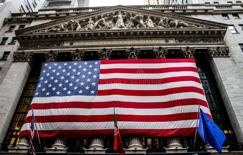 在纽约证券交易所的葡萄牙天 免版税库存图片