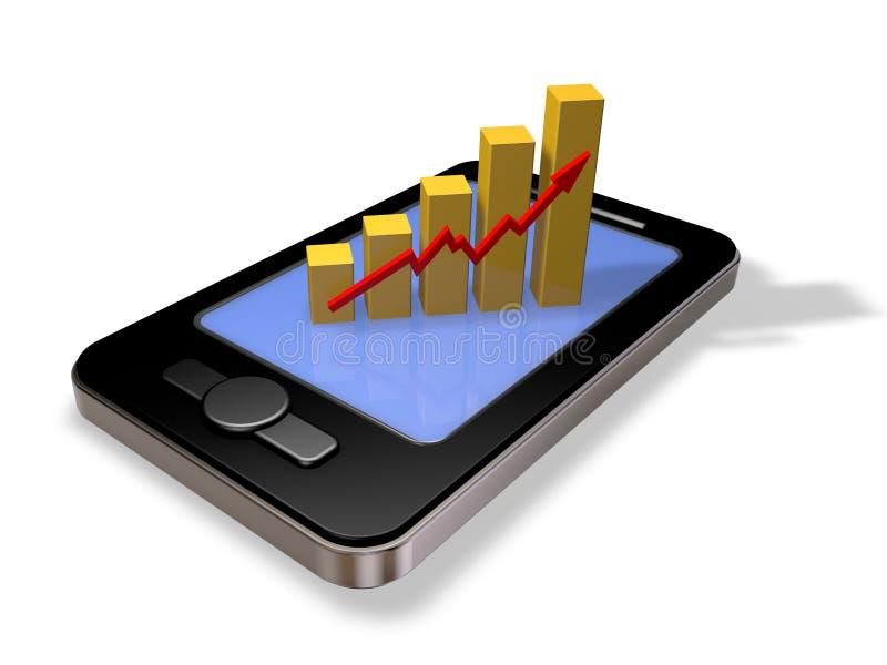 在线企业成就 向量例证