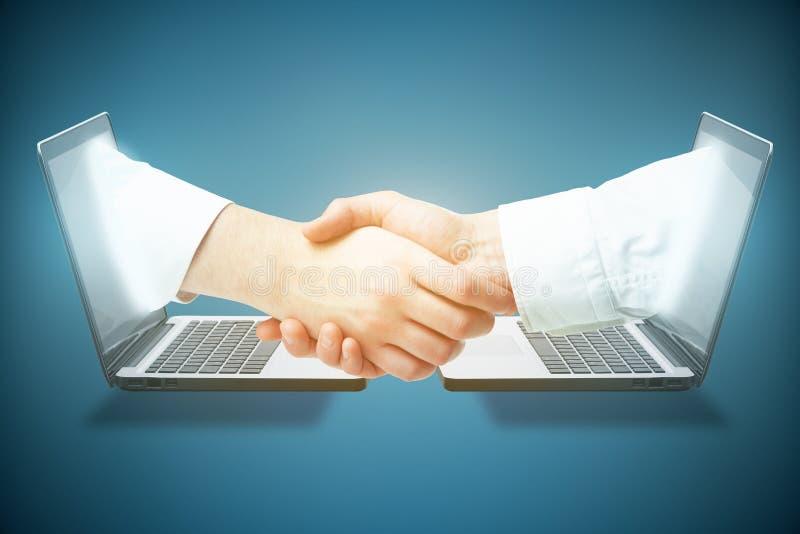 在线企业概念 库存图片