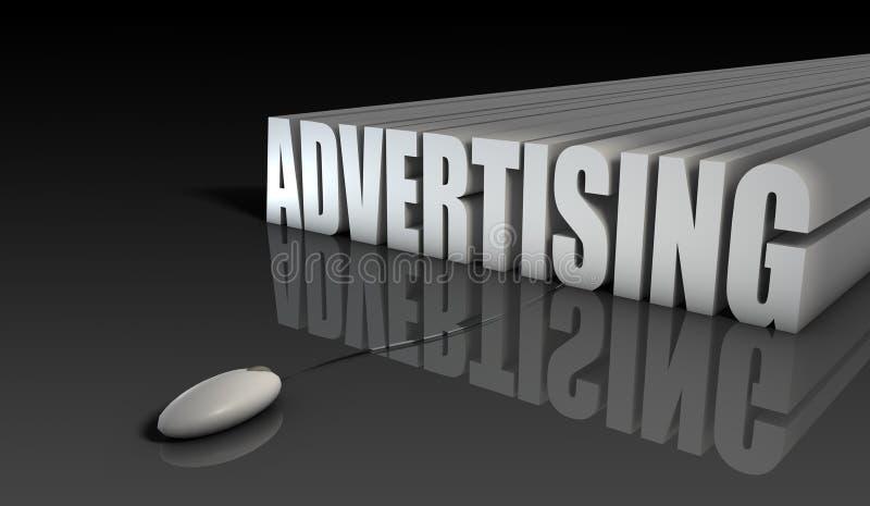 在线做广告 库存例证