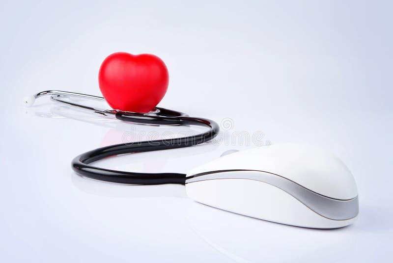 在线医疗保健 免版税库存图片