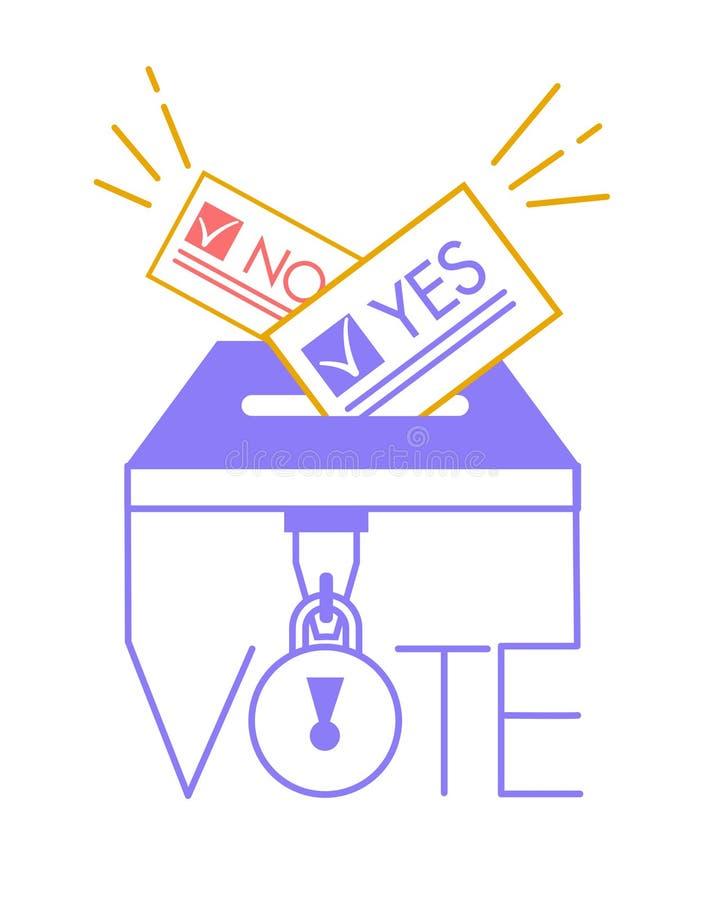 在线性样式表决的投票的概念 库存例证