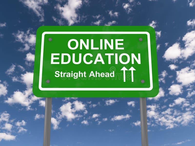 在线教育 向量例证