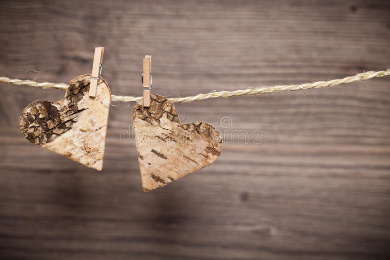 在线的两心脏 库存图片