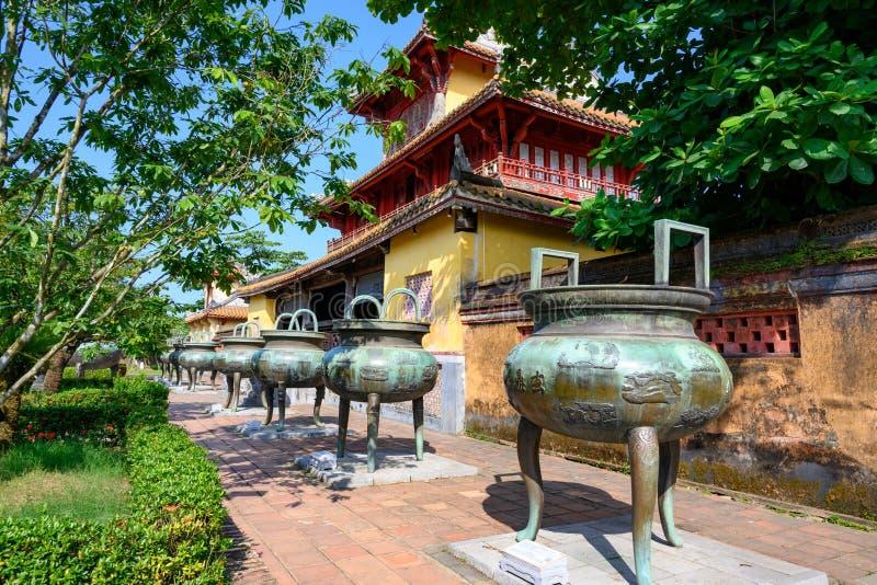 在线的缸在北京皇城颜色,在颜色紫禁城  在线的九个朝代缸是其中一件著名艺术品 图库摄影