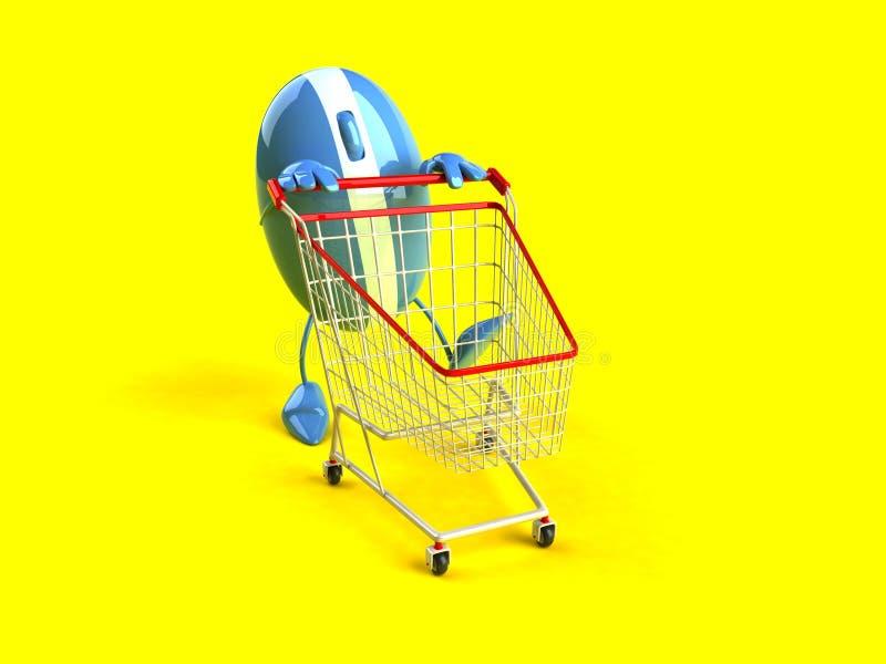 在线购物 库存例证
