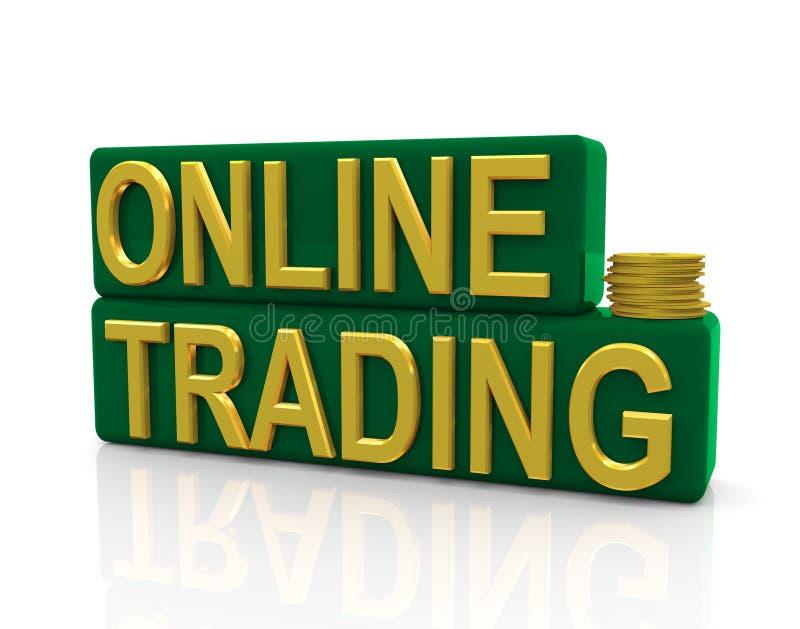 在线贸易 向量例证