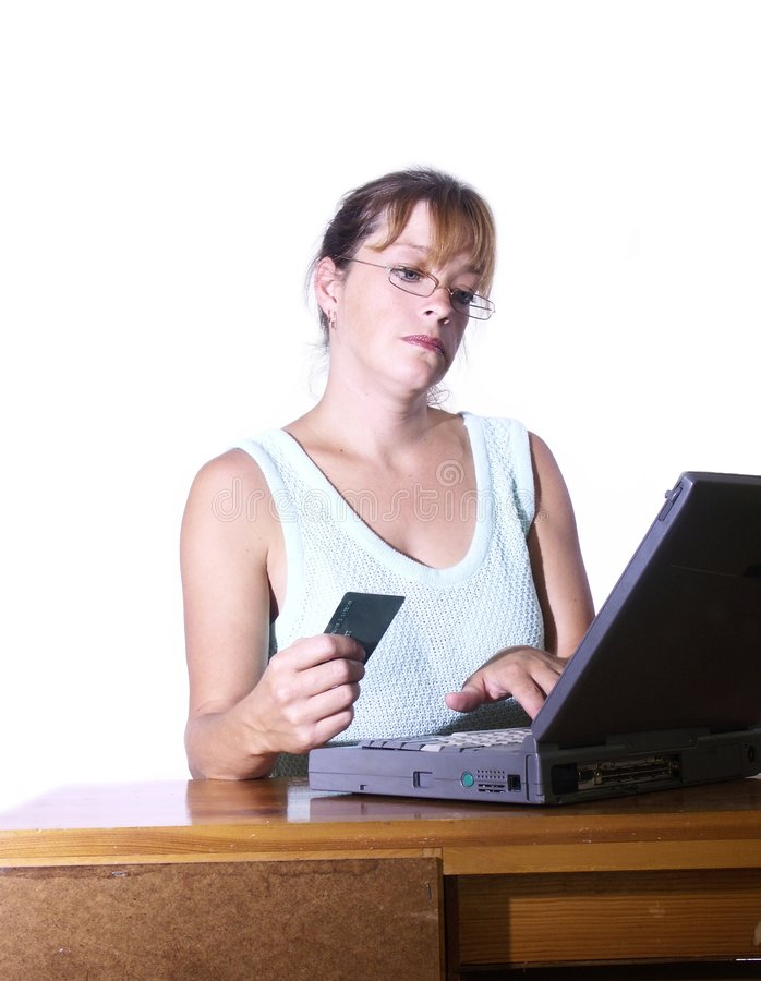 在线赊帐 免版税库存图片