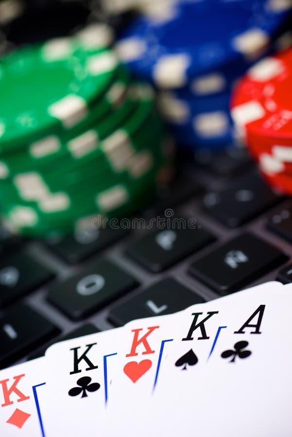 在线赌博的概念 库存照片