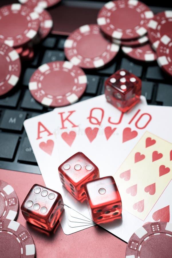 在线赌博的概念 图库摄影