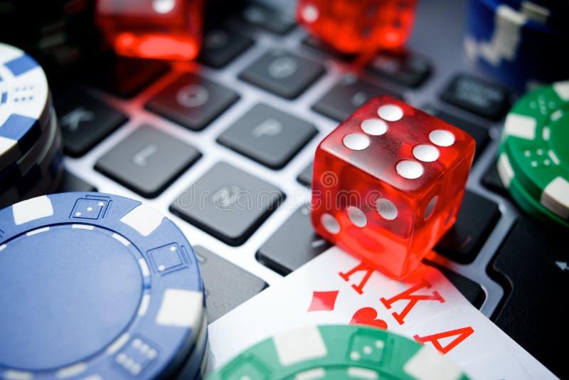 在线赌博的概念 免版税库存图片