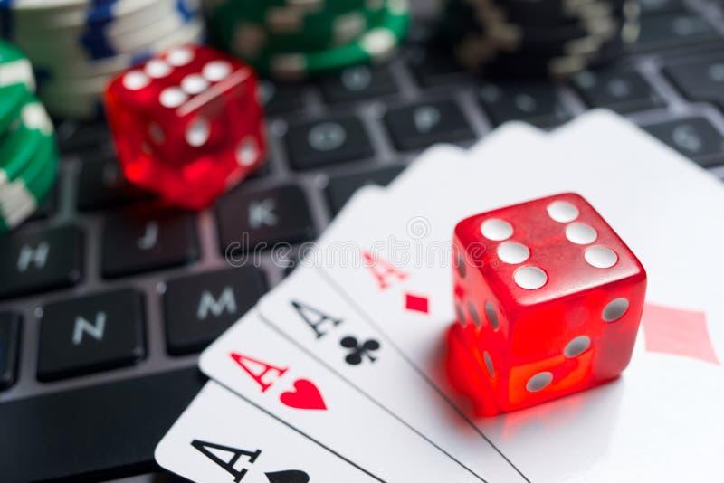 在线赌博的概念 免版税图库摄影