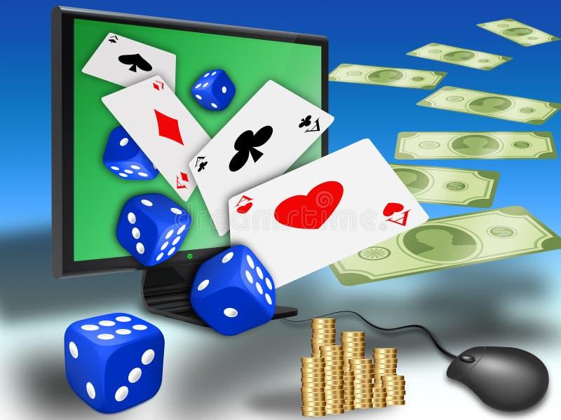 在线赌博 皇族释放例证