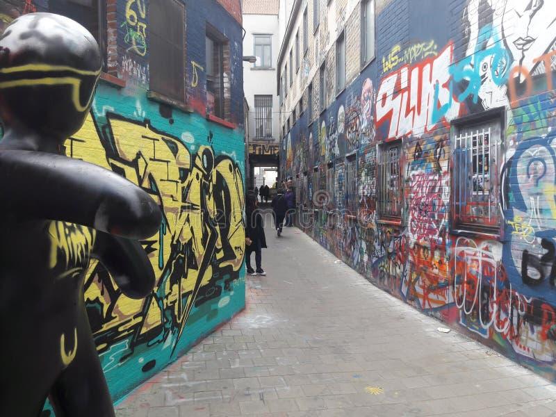 在绅士的街道画街道 免版税图库摄影