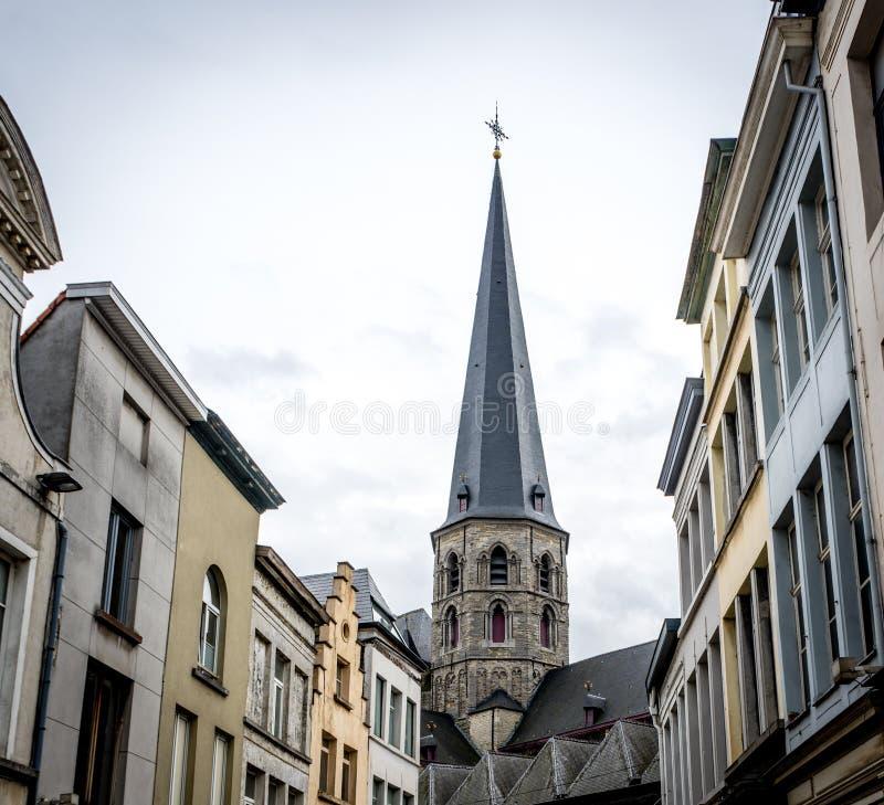在绅士的Sint-Jacobskerk 图库摄影