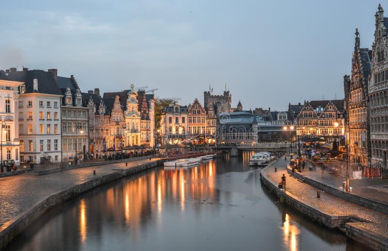 在绅士,比利时的历史的处所 图库摄影