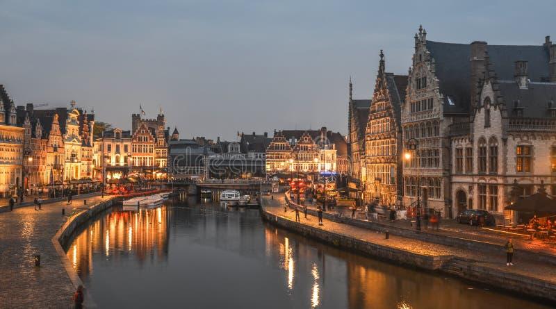 在绅士,比利时的历史的处所 免版税库存照片