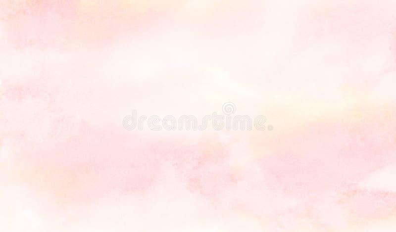 在织地不很细纸背景的墨水作用浅粉红色的颜色树荫水彩梯度例证 库存图片