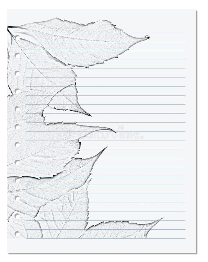 在统治者的笔记本板料与黑色和whiteof弗吉尼亚爬行物 库存图片