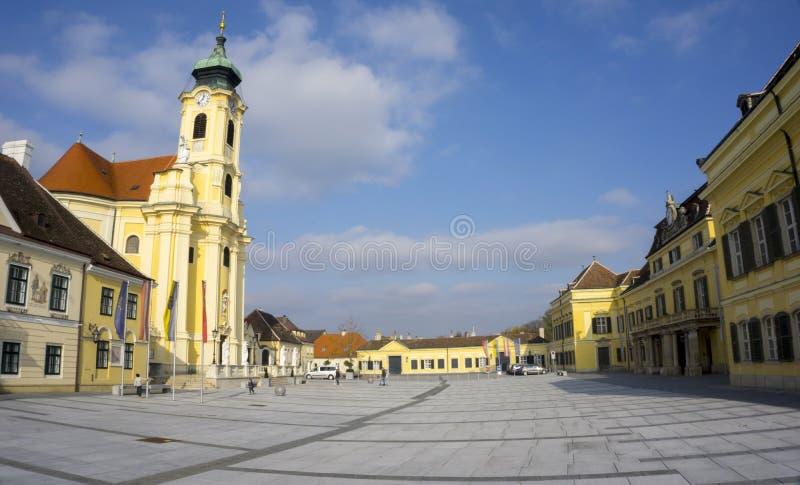 在维也纳附近的Laxenburg市 免版税库存照片