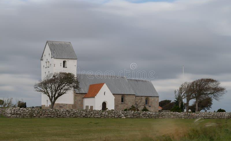 在维堡附近的丹麦教会 免版税库存照片