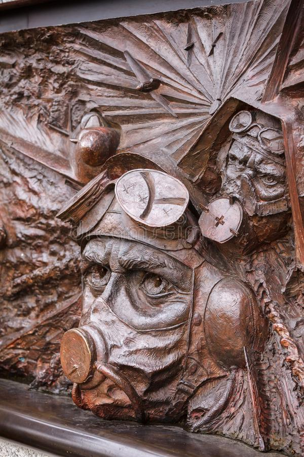 在维多利亚堤防的不列颠战役纪念碑在伦敦英国 库存照片