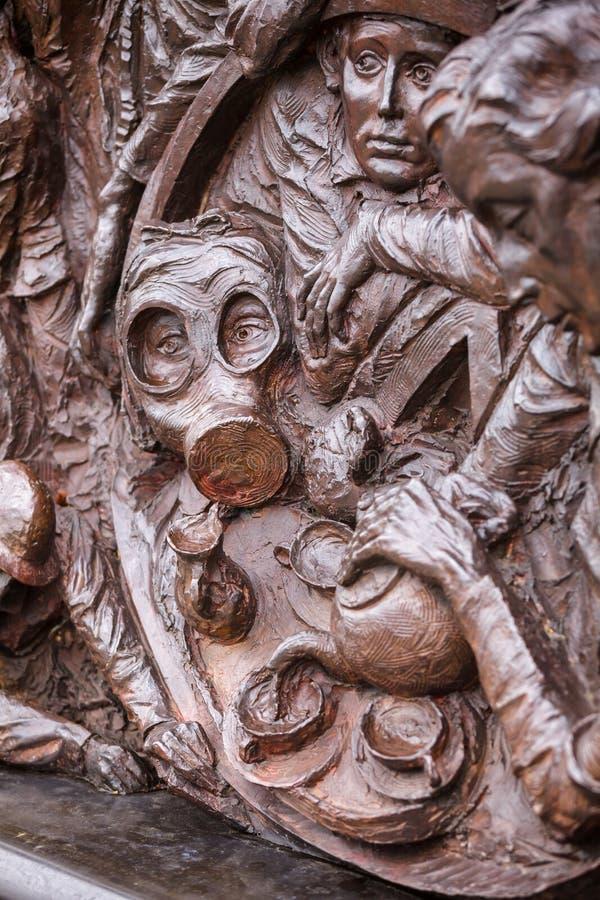 在维多利亚堤防的不列颠战役纪念碑在伦敦英国 免版税库存图片