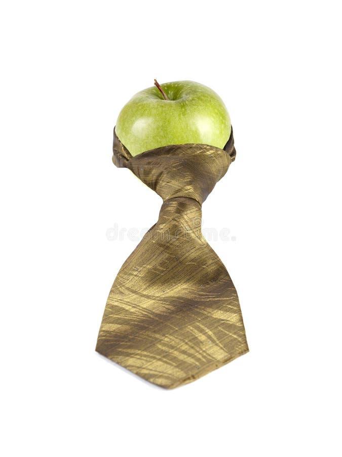 在绿色关系的绿色苹果 库存照片