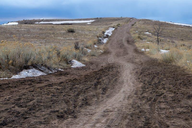 在绿色山,科罗拉多的骑自行车的/供徒步旅行的小道 库存照片