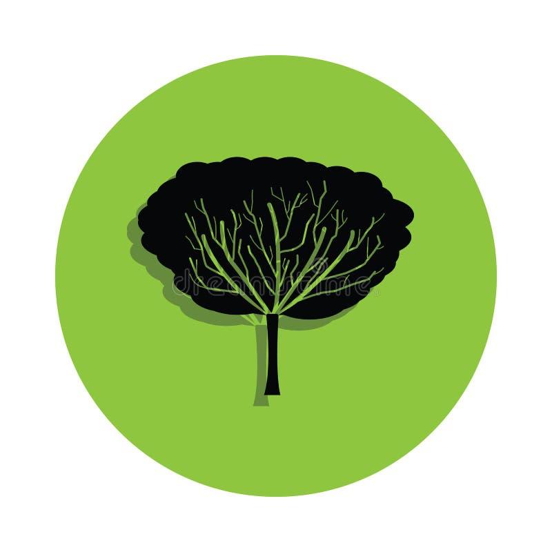 在绿色徽章象的苹果树 向量例证