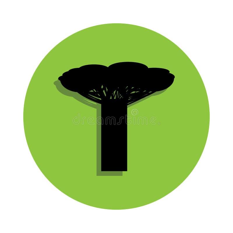 在绿色徽章象的龙血树 皇族释放例证