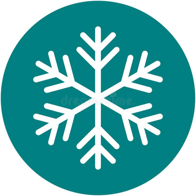 在绿色背景的雪花象简单的传染媒介例证 皇族释放例证