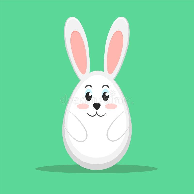 在绿色背景,储蓄传染媒介例证, ep的复活节兔子 皇族释放例证