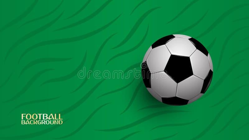 在绿色背景,橄榄球冠军杯子的现实橄榄球 库存例证