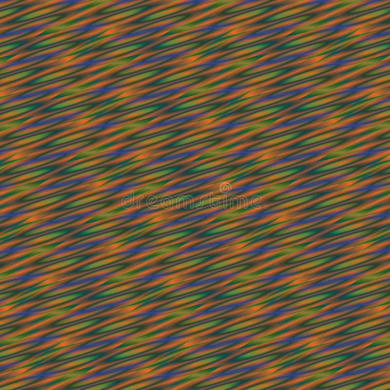 在绿色,橙色和蓝色梯度的抽象五颜六色的几何背景 库存例证