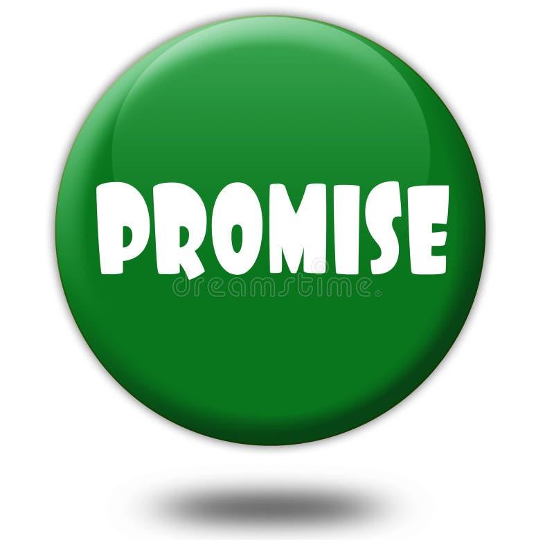 在绿色3d按钮的诺言 皇族释放例证