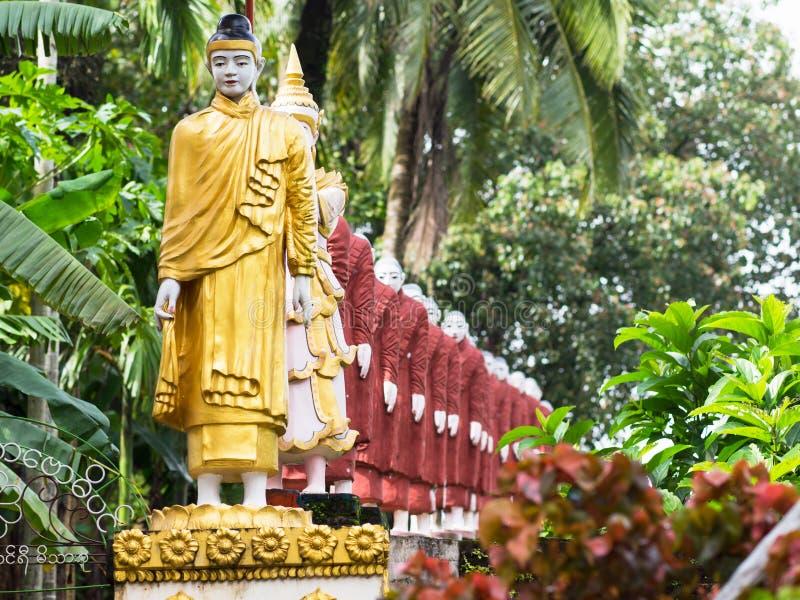 在缅甸的菩萨图象 库存照片