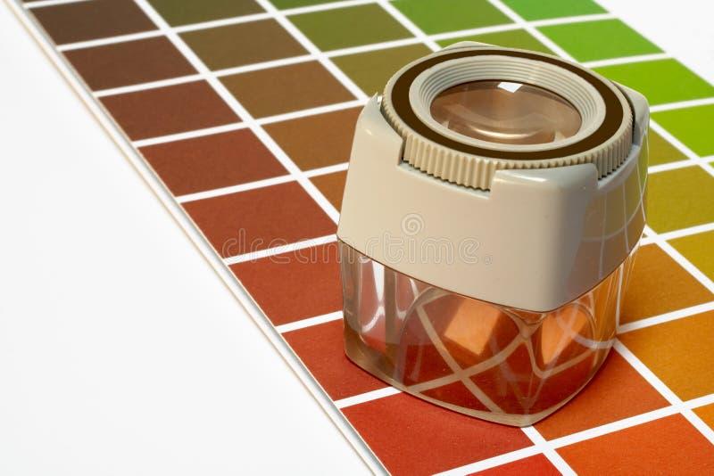 在缩放的颜色指南 免版税库存图片