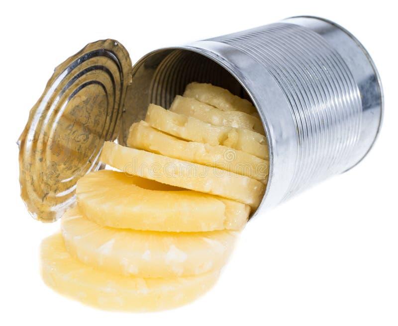 在罐子的罐装菠萝 库存图片