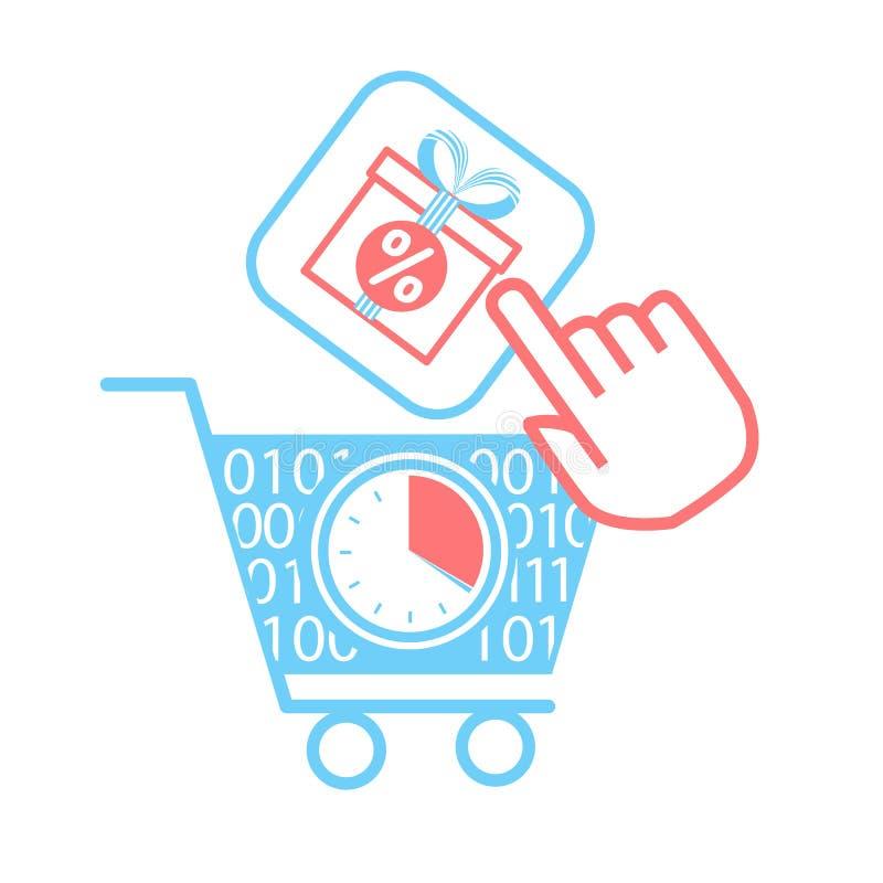 插画 包括有 游标, 互联网, 商业, 聘用, 移动, 钞票, 赠券, 图标