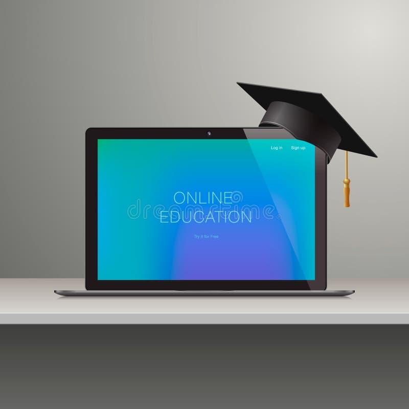在网上学会, webinar,网上教育,企业训练,知识专门技术智力学会概念,传染媒介 库存例证