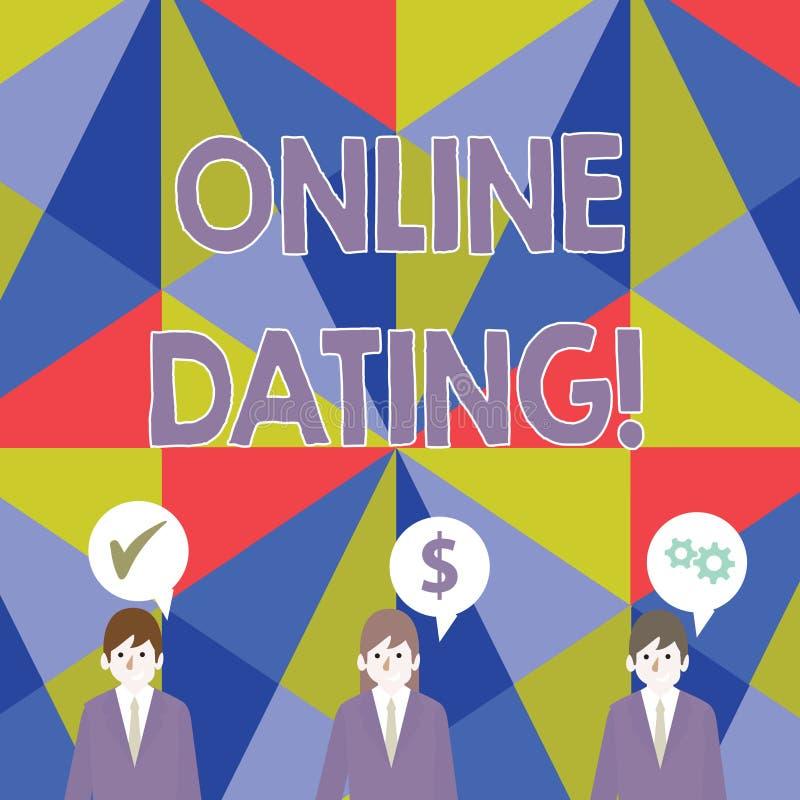 在网上约会手写的文本 意味实践搜寻的概念在互联网上的一个roanalysistic伙伴 皇族释放例证